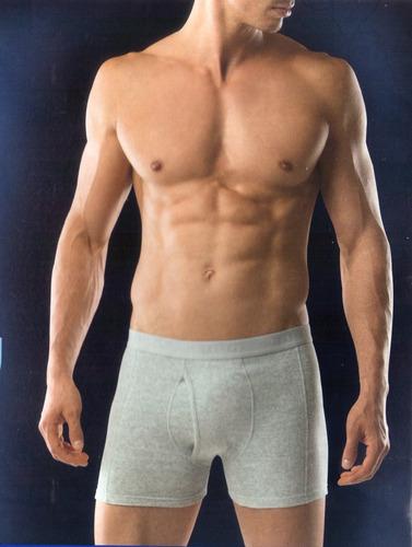 excelente boxer lupo algodon acanalado spandex con abertura