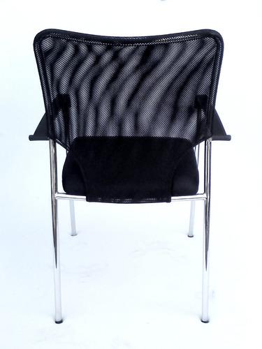 excelente silla diálogo cromada mesh pos.oficina escritorio