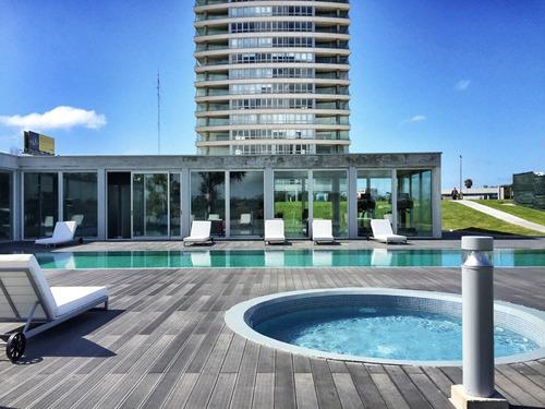 excelente vista - piso alto - 2d + garaje