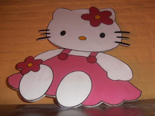 excelentes kitty en espuma plast pintada a mano!