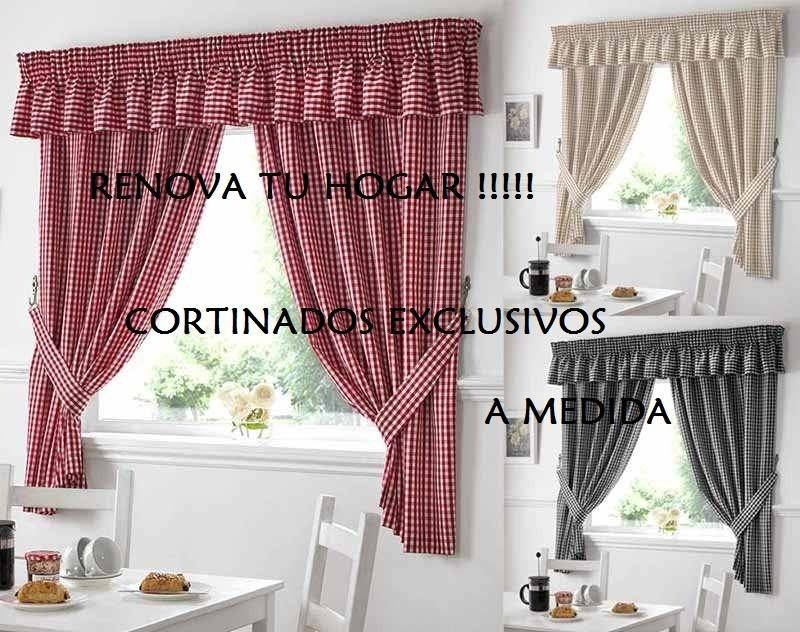 Exclusivas cortinas de cocina preciosas 590 00 en - Cortinas para puertas de cocina ...