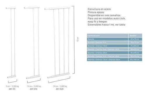 extensión puerta seguridad bebe 10 cm