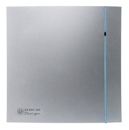extractor-aire baño soler & palau silent 200cz silver design