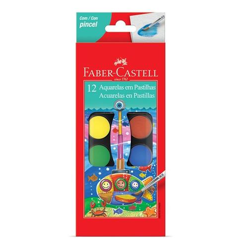 faber-castell acuarela caja 12 colores - mosca