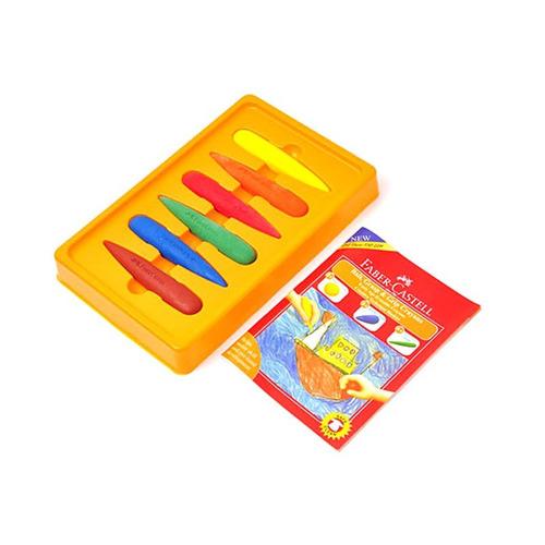 faber-castell crayones de cera gotas - 6 unidades - mosca