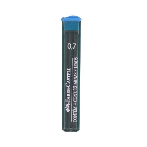 faber-castell minas 0.7 mm tubo 12 unidades - hb - mosca