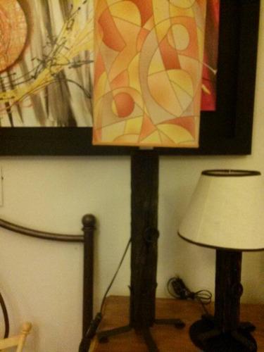 fabrica iluminación hierro-madera,lampara de mesa,apliques