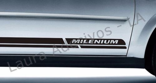 faixa  adesivo lateral corsa milenium peças acessórios la