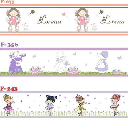 faixa decorativa adesivo parede infantil jolie bailarina