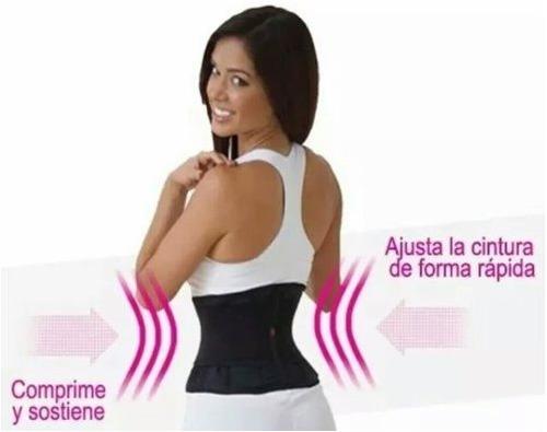 faja cintura de avispa reductora gym aerobics velcro talles