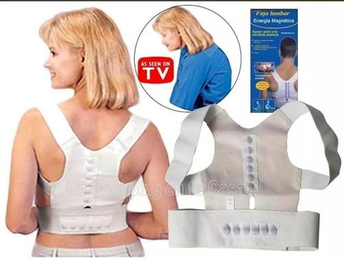 faja magnetica correctora de postura con imanes como en tv