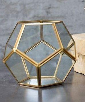 fanal terrario de vidrio chico - a brillar mi amor