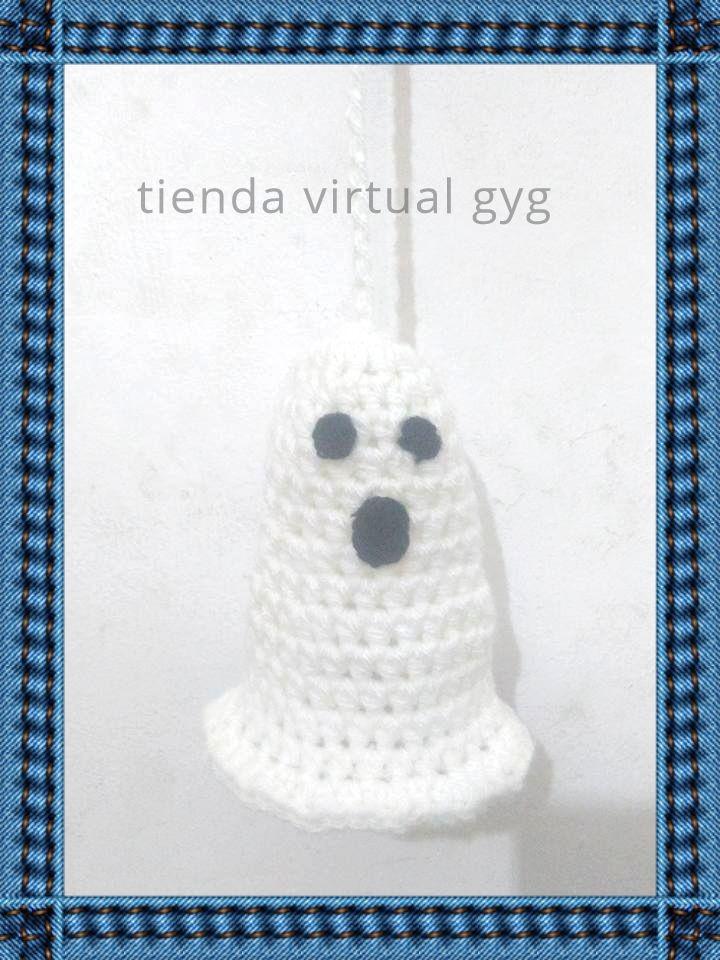 Fantasmas Crochet Decoracion Halloween - $ 75,00 en Mercado Libre