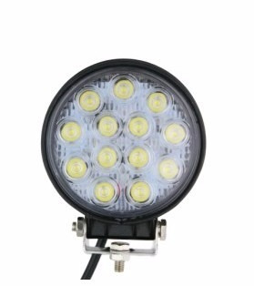 faro caminero 14 led alta potencia off road 42w 110mm