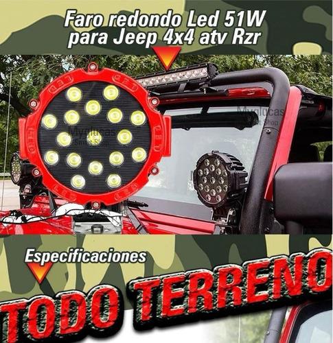 faro led 51w alta intensidad para jeep rzr 4x4 off road awd