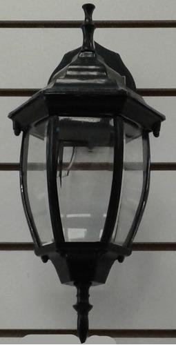 farol de pared metal y vidrio 30cms