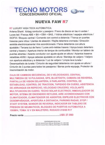 faw r7 1.6 luxury nueva suv tecno motors ventas y servicio