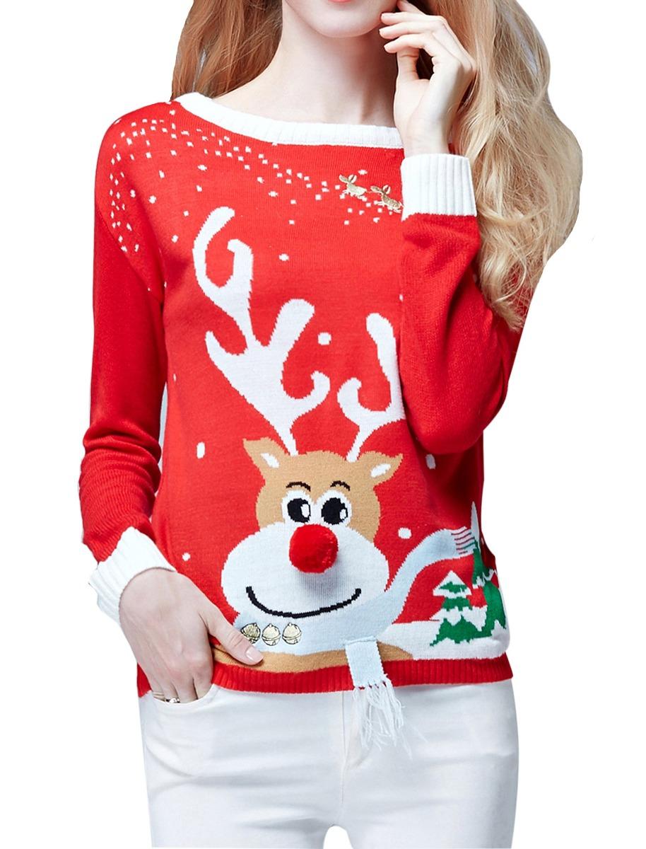 Fea Navidad Suéter V28 Mujer a04533156cae