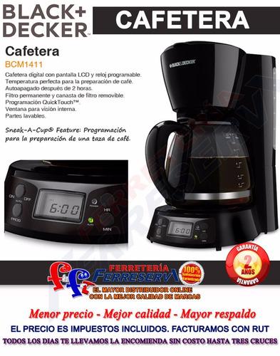 ff cafetera digital programable black + decker bcm1411 900w