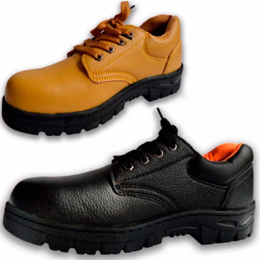 Sin Amarillo Reforzada Negro Suela Puntera 600 Zapato Trabajo Ff 0Bqzfwx