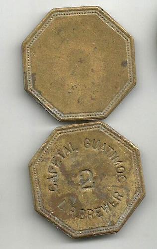 ficha de hacienda antigua guatimoc 2 reales