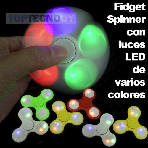 fidget spinner led de colores en varios modos - toptecnouy ®
