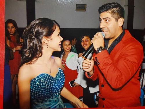 fiesta show cantante animacion evento  casam. 15años luis mi