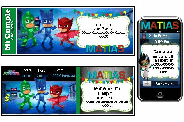 Fiesta Tematica Pj Masks Heroes En Pijamas
