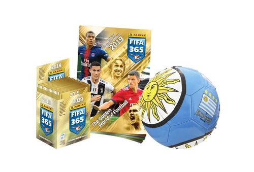 fifa 365 2019 - 50 sobres + album + pelota