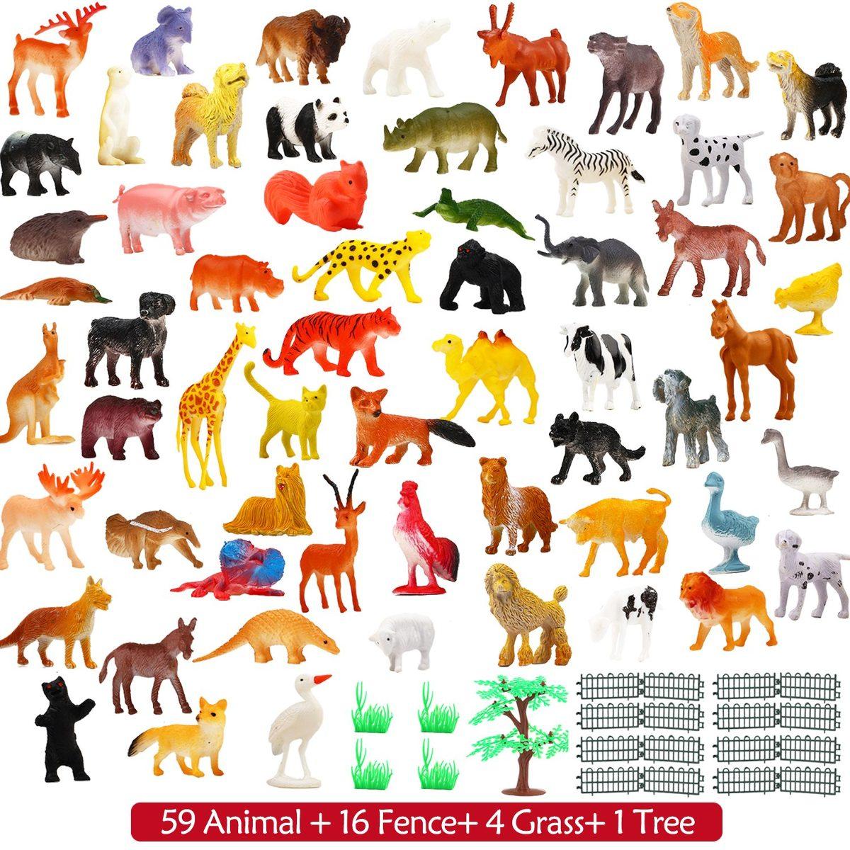 1dd3708f646e Figura De Animales, 80 Piezas Mini Safari Selva Animales. - U$S 53 ...