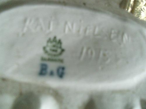 figura de porcelana firmada kai nielsen 1916