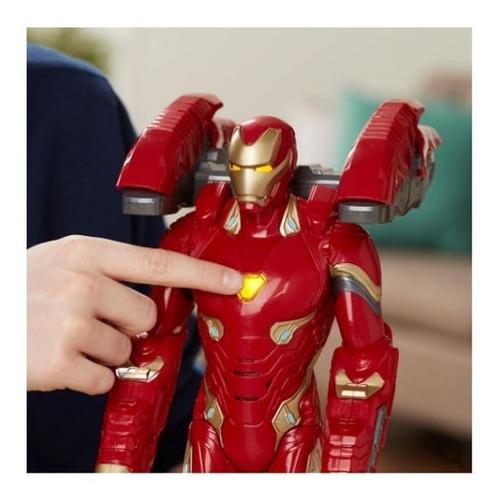 figura iron man tecnomisión - 35 cm - avengers infinity war