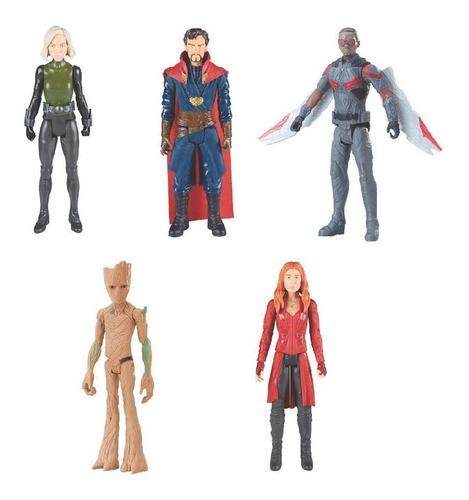 figuras de accion avengers titan heroes de hasbro originales