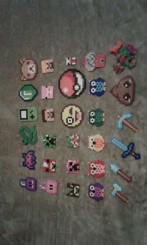 figuras de hama beads y pulseritas leer descripcion