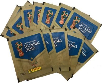 figurinhas panini  kit 120 envelopes copa do mundo fifa 18