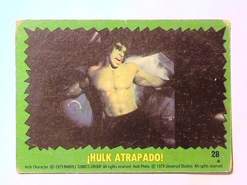 figuritas el increíble hulk - año 1979 - stani nº 28