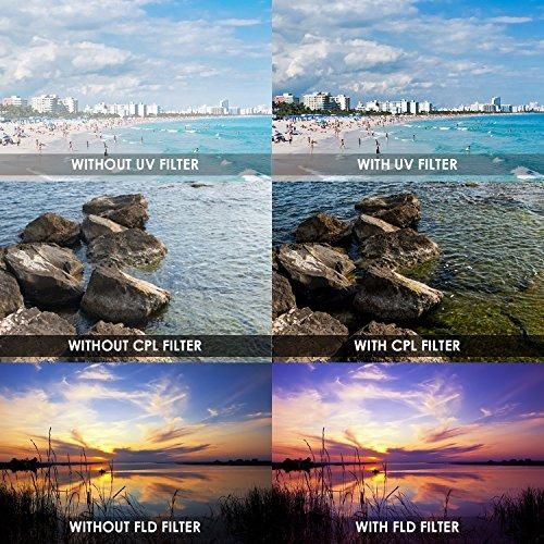 filtros para objetivo 52mm p/cámara nikon d3300 d3200 d3100