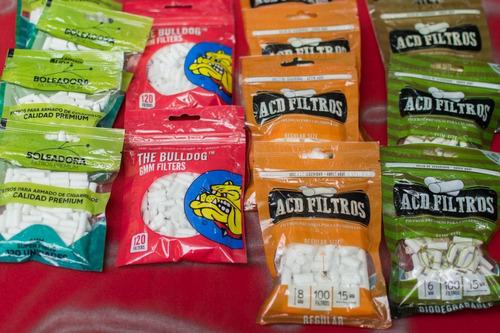 filtros para tabaco o marihuana, varias marcas