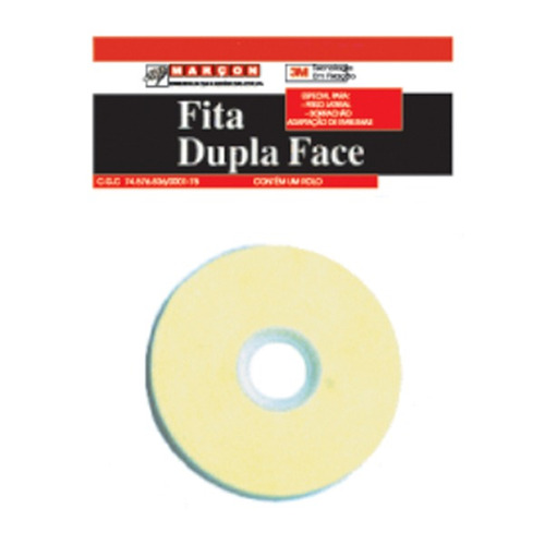 fita dupla face rolo 10 mts larg 14,7 mm