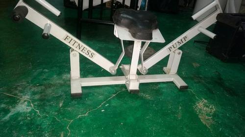 fitness pump y barra para espalda
