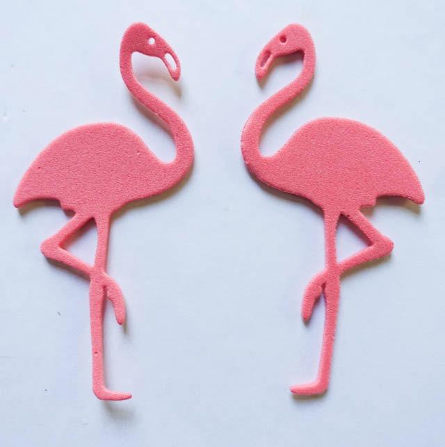 Flamenco Flamingo Goma Eva O Cartulina Souvenir Decoración
