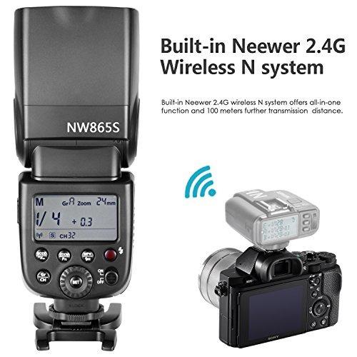 flash neewer gn60 2.4g manual para cámaras sony a7 a7s a7sii