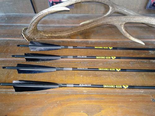 flechas fibra de carbono con pluma natural!!!