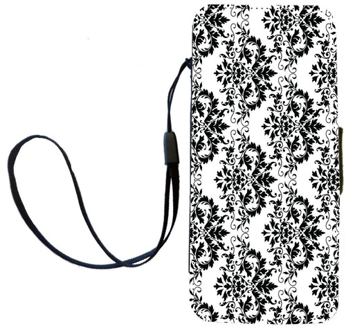 flip case rikki knight shabby chic black on white damask f