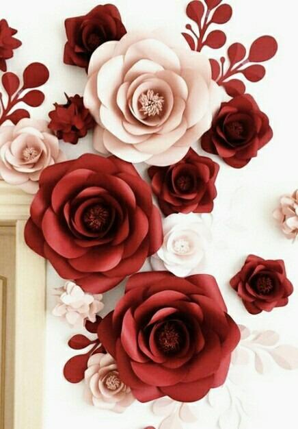 Flores De Papel Para Decoracion 1 00 En Mercado Libre
