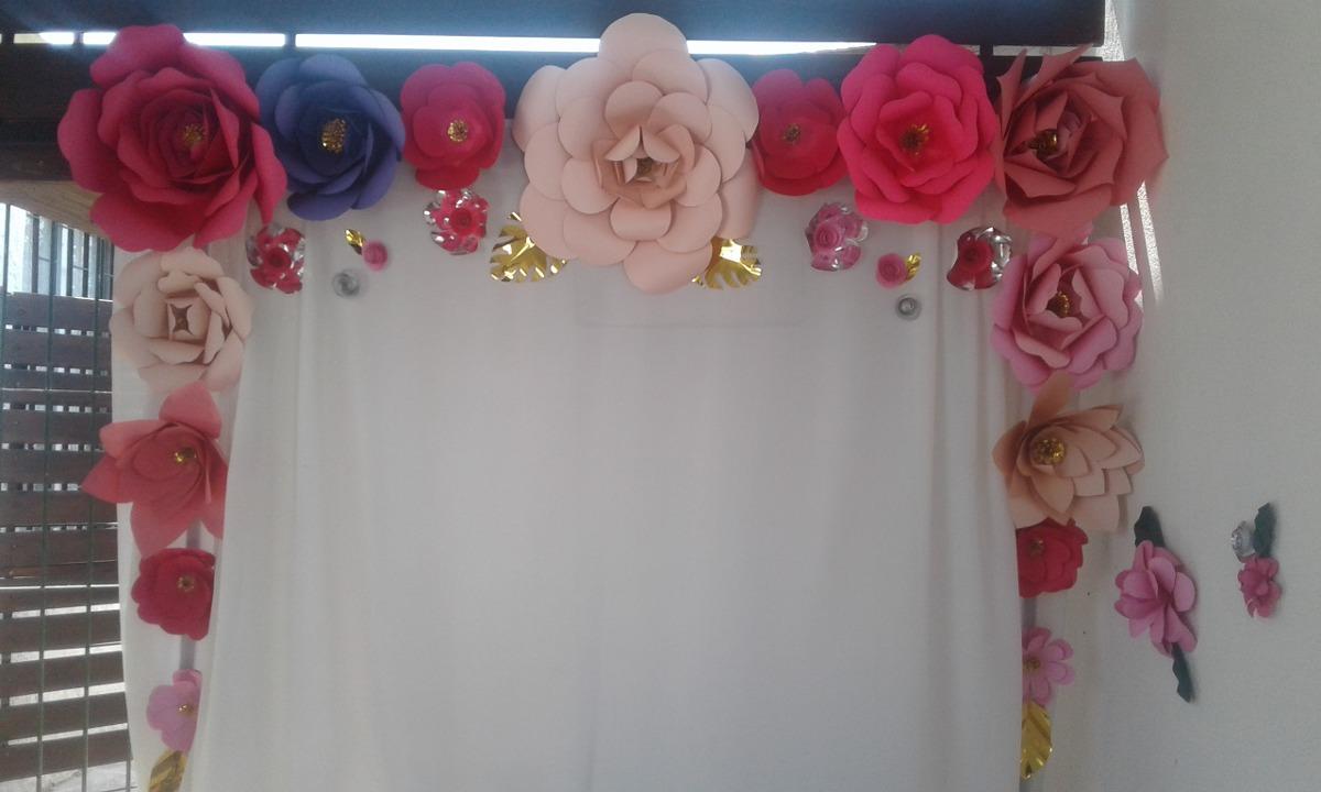 Flores Decoracion Papel Cartulina Cumple 1 850 00 En Mercado Libre