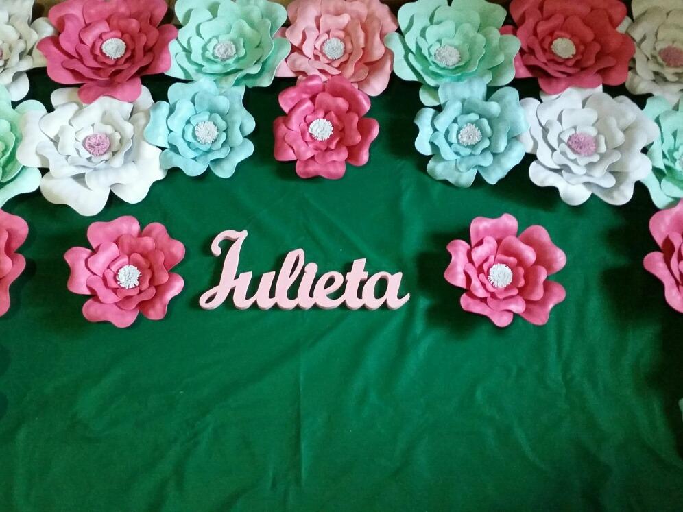 Flores En Goma Eva Para Cumpleanos Casamientos Decoracion 130 00