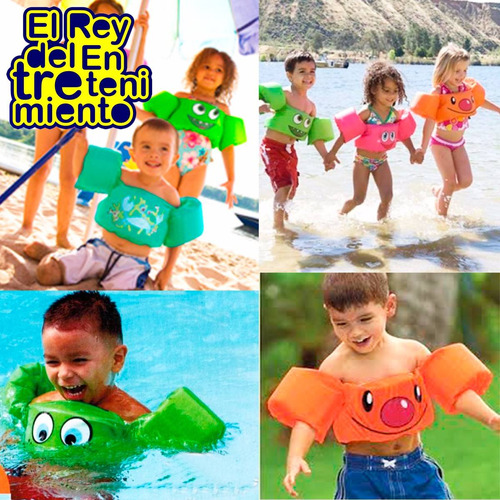 flotador salvavida infantil playa piscina ajustable - el rey