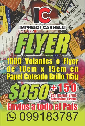 flyer volantes a todo color 10x15cm
