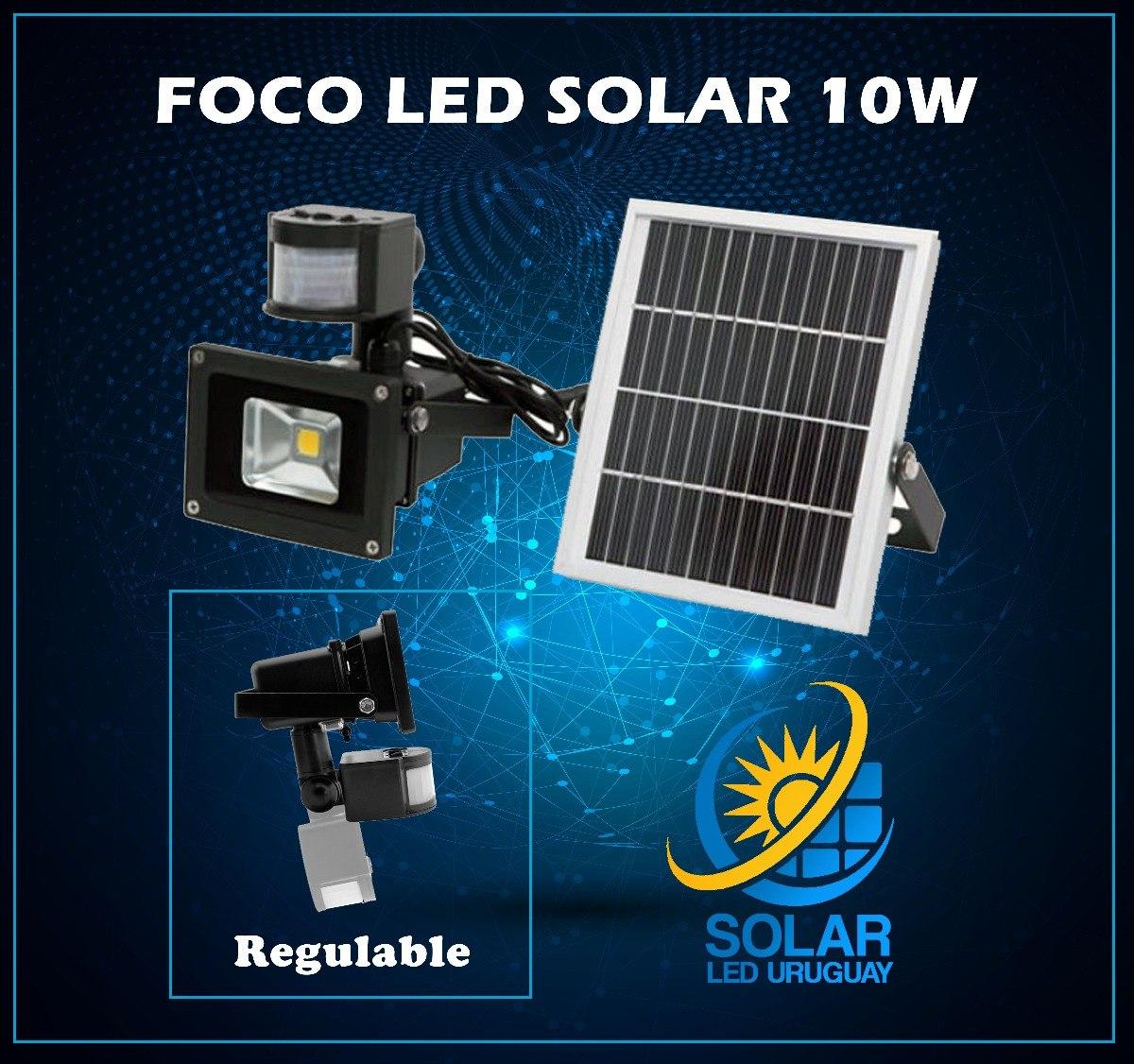 e9d601bdac5ff foco led exterior con sensor de movimiento y panel solar 10w. Cargando zoom.